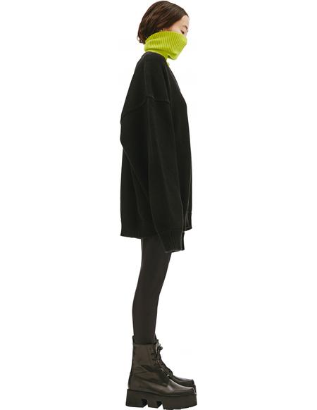 Balenciaga Black V-Neck Sweater