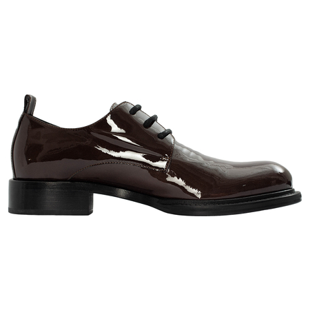 Ann Demeulemeester Brown Patent Leather Derbys