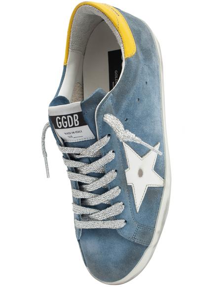 Golden Goose Blue Suede Superstar Sneakers