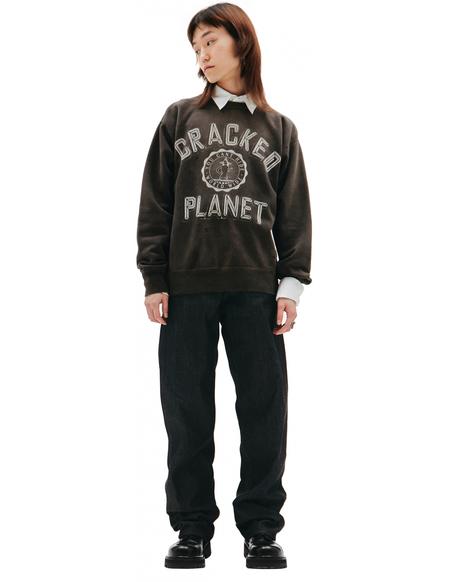 Saint Michael Cracked Planet Printed Sweatshirt