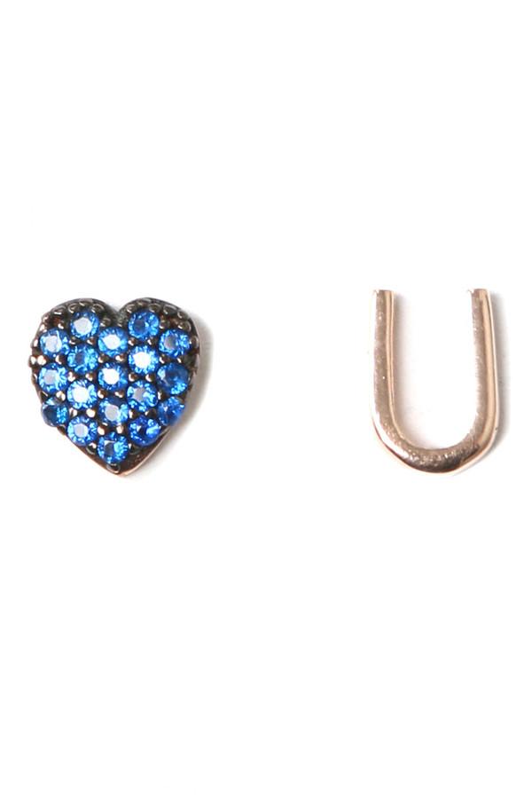 Aamaya by Priyanka Heart U Rose Gold Earrings