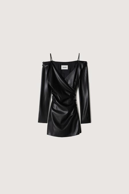 Nanushka Moha Leather Mini Dress