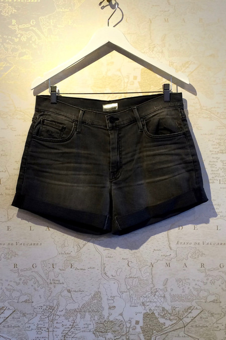 Mother Denim 'Dropout' Rolled Cuff Short