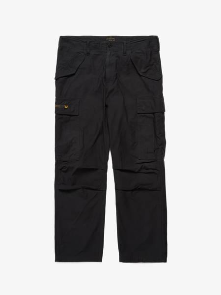 PRE-LOVED Wtaps Satin Logo Cargo Pocket Pants - BLACK