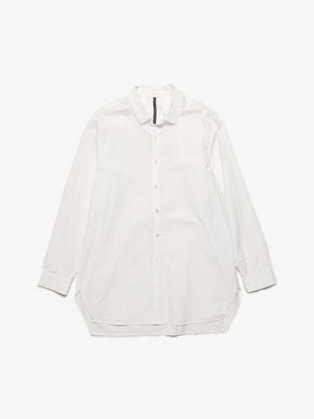 [Pre - Loved] Attachment Male Elongated Cotton Shirt - White