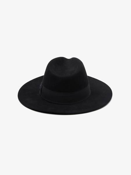 PRE-LOVED Saint Laurent Paris Classic Wool Fedora Hat -- BLACK