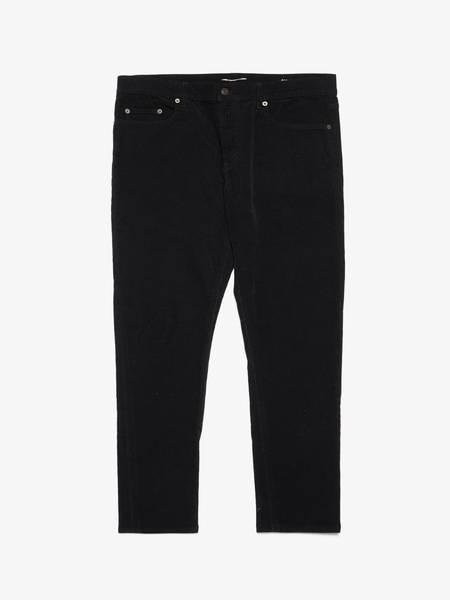 PRE-LOVED Saint Laurent Paris Black D01 Velvet Cotton Pants - black