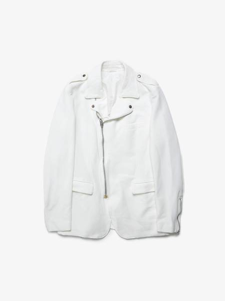 Comme Des Garcons Homme Plus Perfecto Detailed Polyester Suit Jacket - white