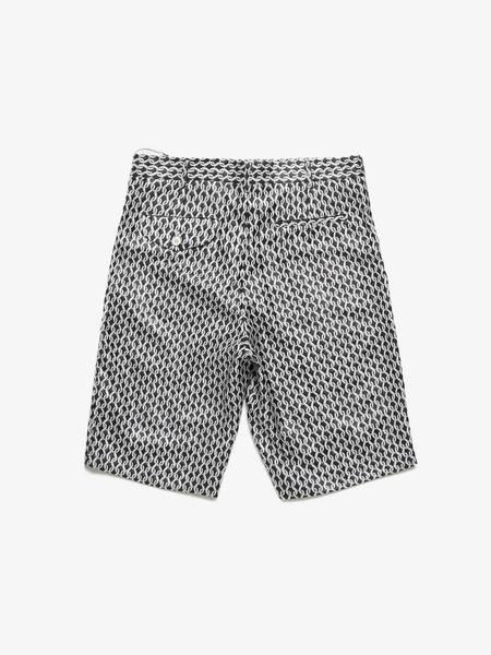 PRE-LOVED Comme Des Garcons Homme Plus Circle Printed Suit Shorts - black/white