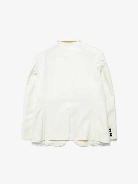 pre-loved Saint Laurent Paris Contrast Lapel Tuxedo Jacket - Milk