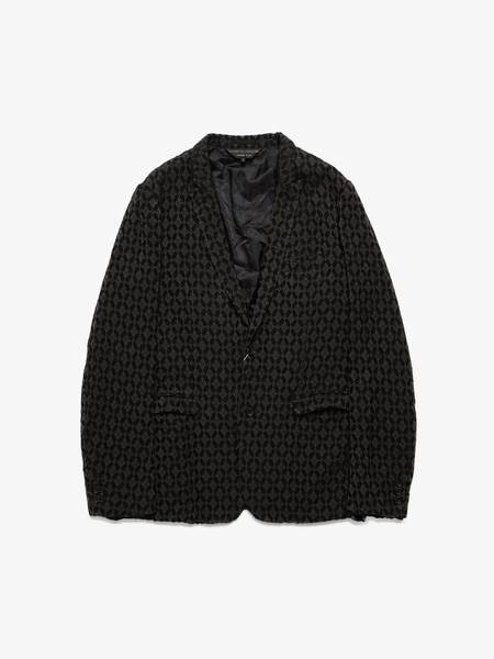 [Pre-Loved] Comme Des Garcons Homme Plus Male Black and Dark Gray Rhombus Printed Fabric Blend Jacket-Black