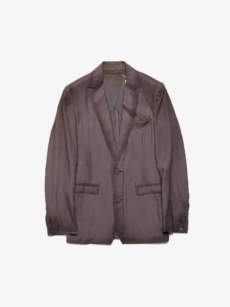 [Pre-Loved] Miharayasuhiro Male Brown Silk Blazer Jacket - Brown