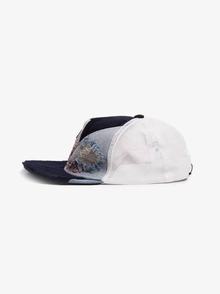 Unisex Greg Lauren X Paul & Shark Woven Baseball Cap - Navy