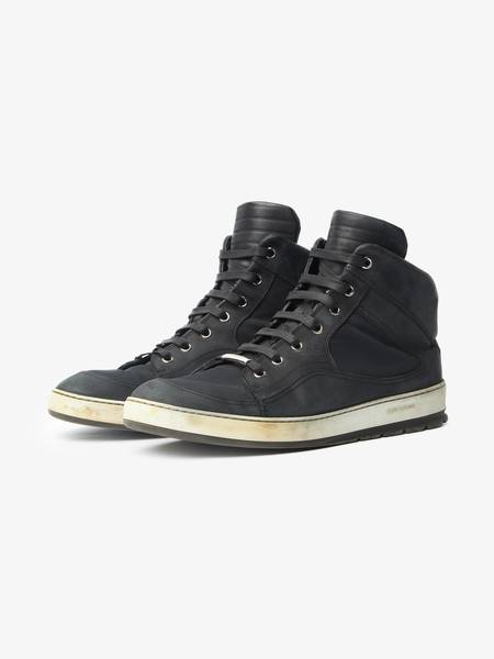 [Pre-Loved] Dior Male Black High Top Textile Sneakers