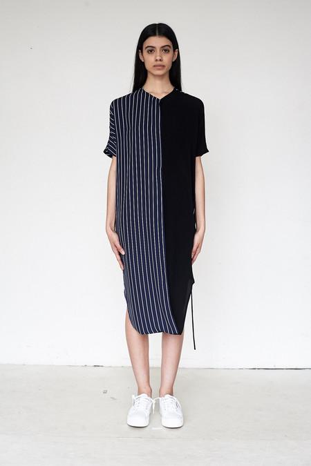 Assembly New York Rayon/Stripe Combo Twist Dress