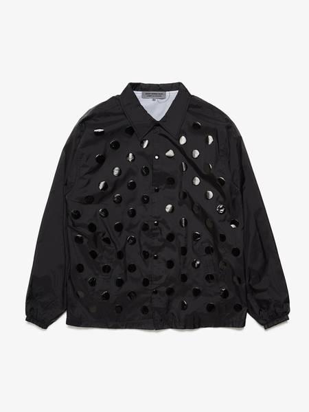 [Pre-Loved] Comme des Garcons Male Black Polka Dot Printed Nylon Light Jacket