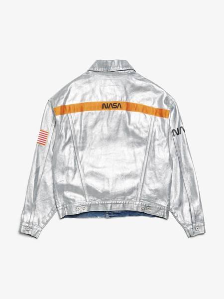 [Pre - Loved] Heron Preston Male NASA Denim Jacket - Silver