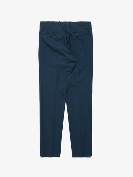 [Pre-Loved] Gucci M Blue Cotton Suit Trousers-NAVY