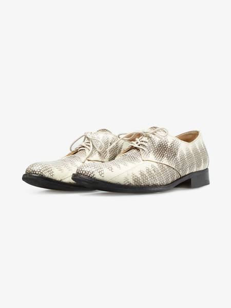 [Pre - Loved] Helmut Lang Archive SS02 Python Leather Derby Shoes  - Beige