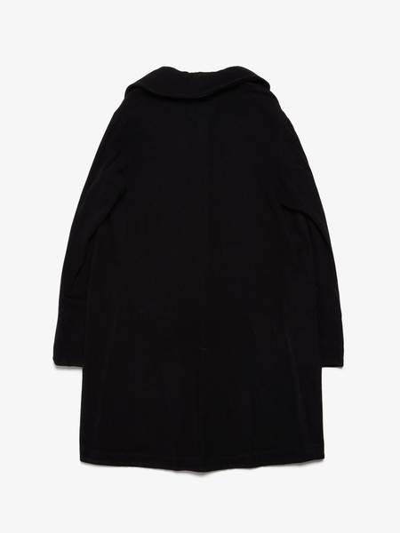 PRE-LOVED Greg Lauren Cashmere Silk Detailed Artist Coat - black