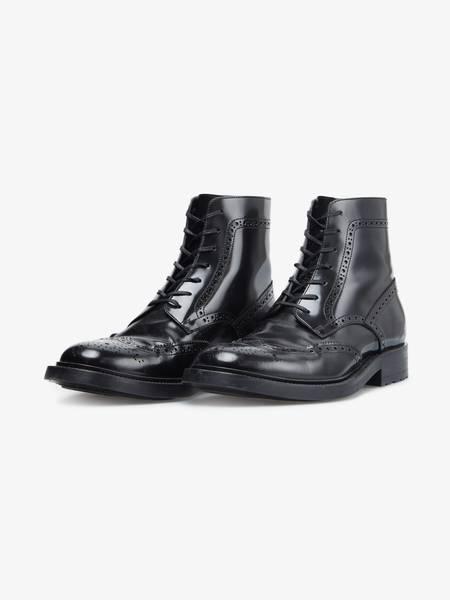 [Pre - Loved] Saint Laurent Paris Laquered Combat Boots - Black