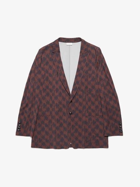 [Pre Loved] Dries Van Noten Printed Viscose Blazer Jacket - Brown
