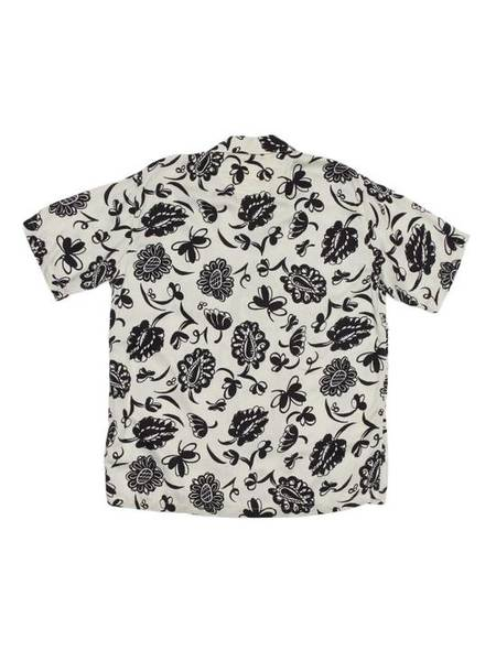 [Pre-Loved] Comme Des Garcons Junya Watanabe Black and White Printed Flower Rayon Suit Shirt