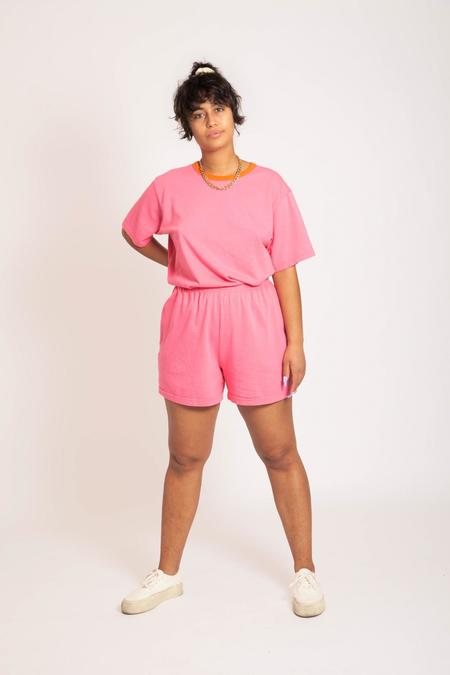 Gravel & Gold Jersey Shorts - Flamingo