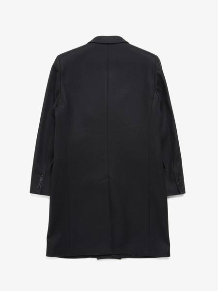 PRE-LOVED Saint Laurent Paris Double Breasted Wool Coat - BLACK
