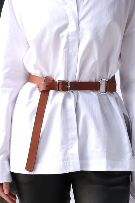 Tibi Harness Belt - Cognac