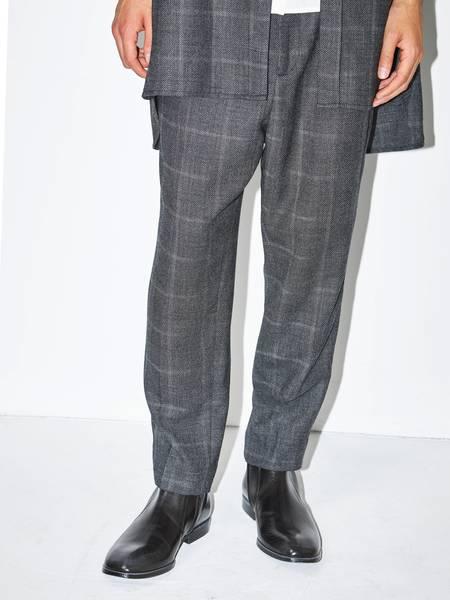 [Pre-Loved] Ann Demeulemeester Male Slim Cropped Pants-GREY