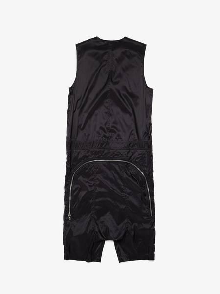 Rick Owens M SS14 Vicious Black Nylon Jumpsuit