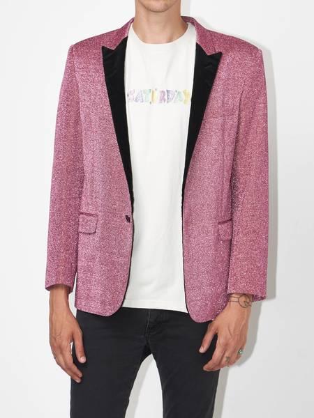 [Pre-Loved] Saint Laurent Paris Male Lipstick Pink Wool Blend Blazer-Pink