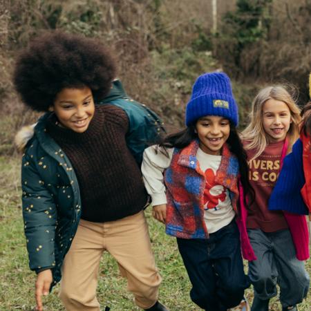 Kids Tinycottons Sky Padded Jacket - Ink Blue
