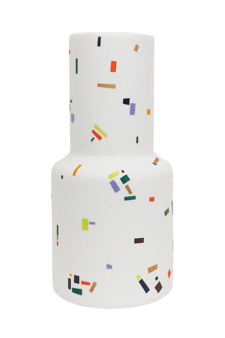 The Granite Epoca Vase - multi-colored aggregate