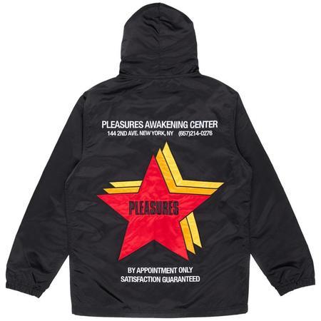 PLEASURES Berlin Satin Coaches Jacket - Black