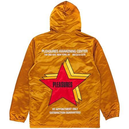 PLEASURES Berlin Satin Coaches Jacket - Caramel