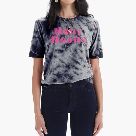 Mother Denim The Elbow Boxy Goodie Tee - Many Moons/Night Sky