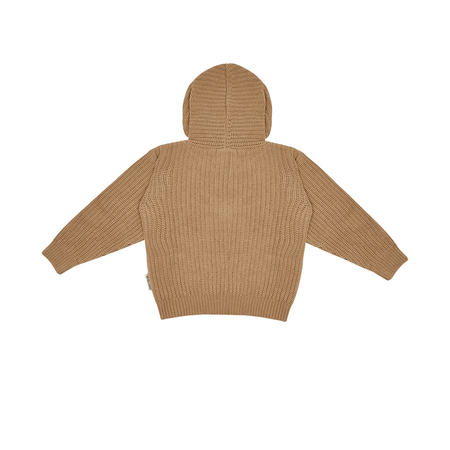 Kids The New Society Rib Kid's Knit Hoodie - Natural