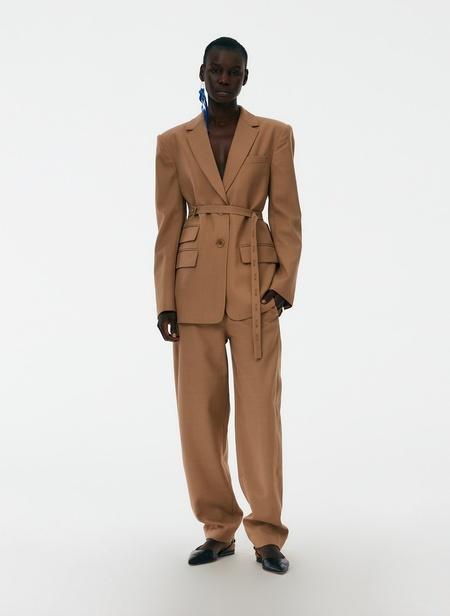 Tibi Luka Suiting Harness Blazer - Toffee