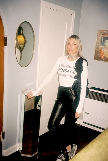PRE-LOVED Versace EMBOSSED TSHIRT - WHITE