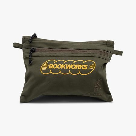 Book Works x Gramicci Classic Logo Sacoche Bag - Olive