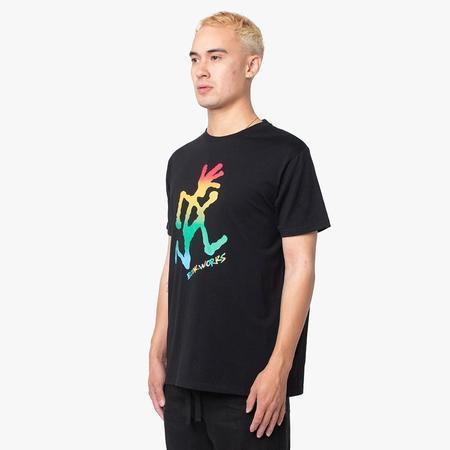 Book Works x Gramicci Running Man Rainbow T-shirt - Black