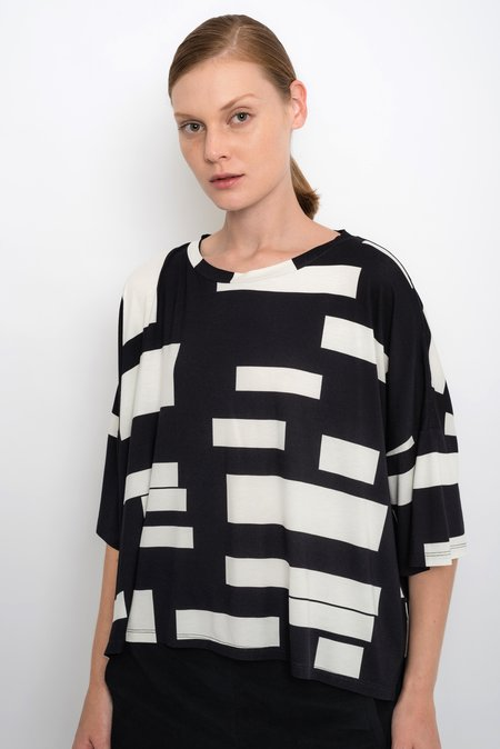 UMA Raquel Davidowicz Long Sleeve Top With Geometric Print Top - Anaca