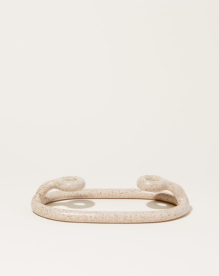 Sin Duo Candlestick - Speckled White