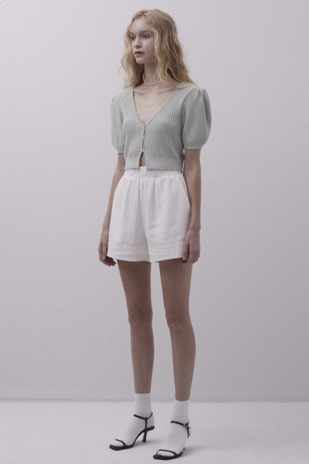 Daily Jud Knit Crop Top - Mint