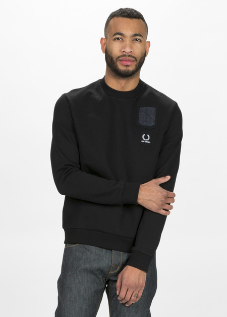Fred Perry Denim Pocket Sweatshirt