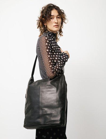 Y's by Yohji Yamamoto Oiled Leather 2Way Bucket Bag