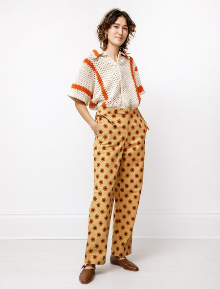 BODE Trousers - Orange Daisy