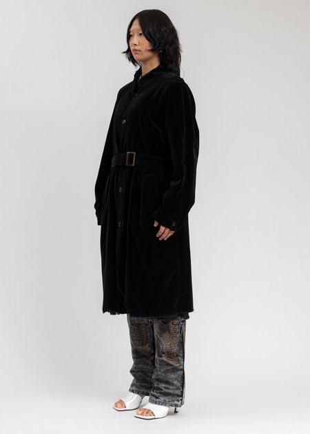 Doublet Cut Off Velvet Coat - Black